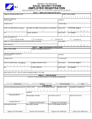 Sss forms r1a download
